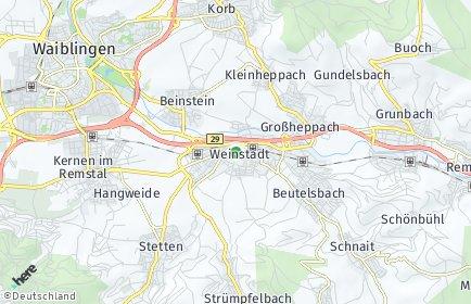 Stadtplan Weinstadt