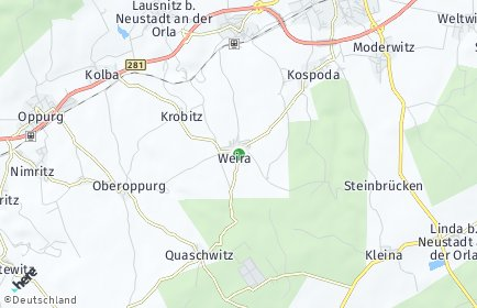 Stadtplan Weira
