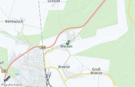 Stadtplan Weisen
