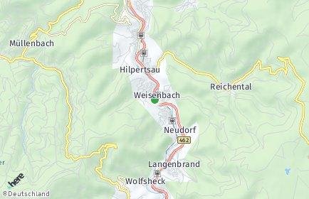 Stadtplan Weisenbach