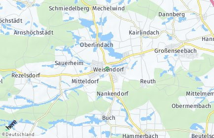 Stadtplan Weisendorf