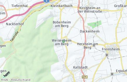 Stadtplan Weisenheim am Berg