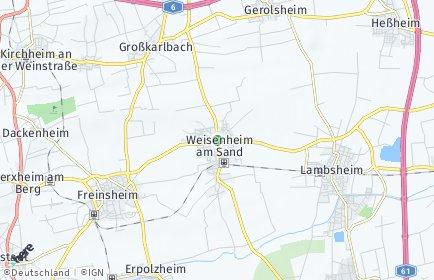 Stadtplan Weisenheim am Sand
