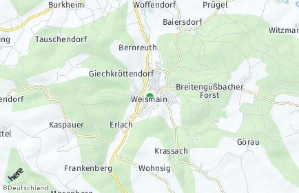 Stadtplan Weismain OT Bernreuth