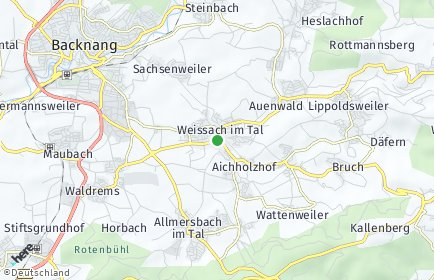 Stadtplan Weissach im Tal