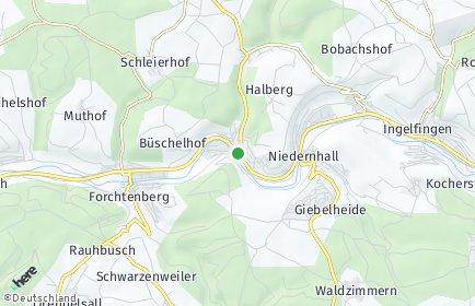 Stadtplan Weißbach (Hohenlohe)