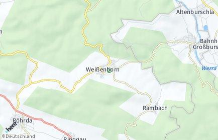 Stadtplan Weißenborn (Hessen)