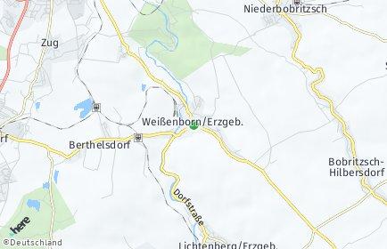 Stadtplan Weißenborn/Erzgebirge