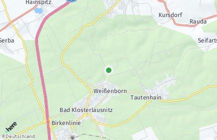 Stadtplan Weißenborn bei Hermsdorf