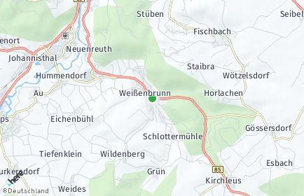 Stadtplan Weißenbrunn