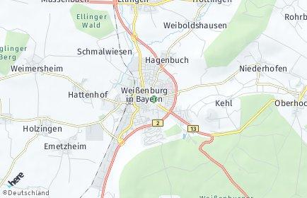 Stadtplan Weißenburg in Bayern