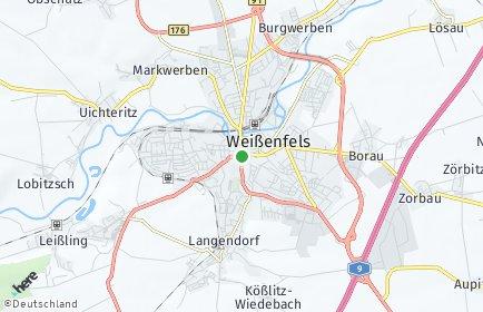 Stadtplan Weißenfels OT Tagewerben