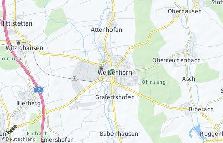 Stadtplan Weißenhorn