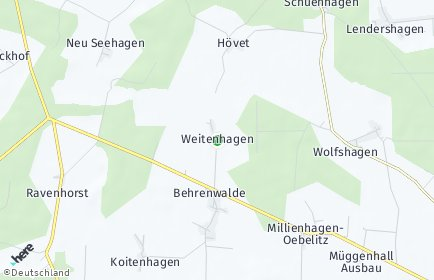 Stadtplan Weitenhagen bei Franzburg