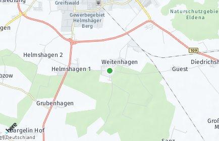 Stadtplan Weitenhagen bei Greifswald