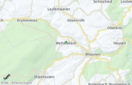 Stadtplan Weitersbach
