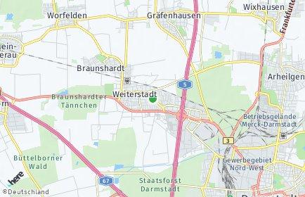 Stadtplan Weiterstadt
