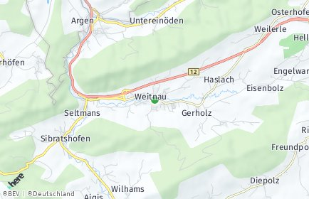 Stadtplan Weitnau