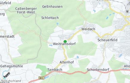 Stadtplan Weitramsdorf