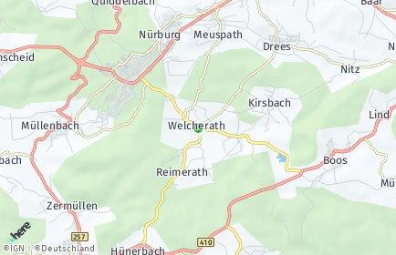 Stadtplan Welcherath