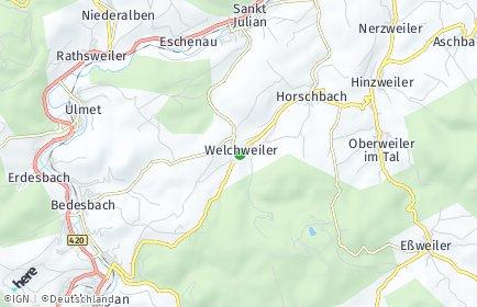 Stadtplan Welchweiler
