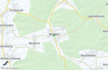 Stadtplan Welden