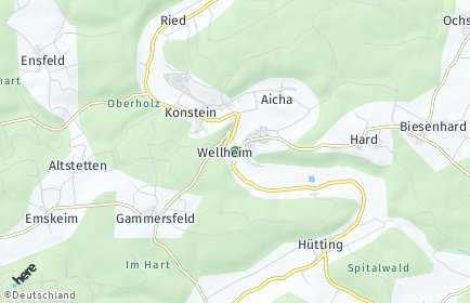 Stadtplan Wellheim OT Hard