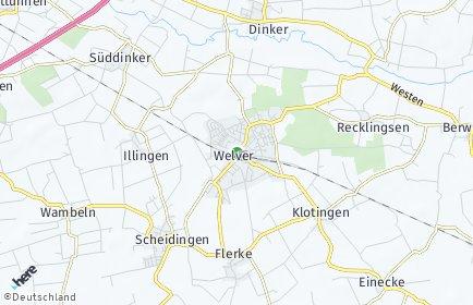 Stadtplan Welver