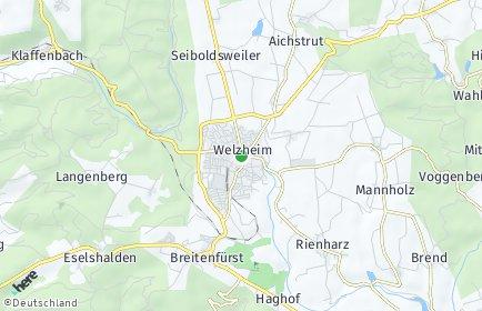 Stadtplan Welzheim OT Taubenhof