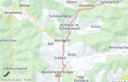 Stadtplan Wembach