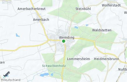 Stadtplan Wemding