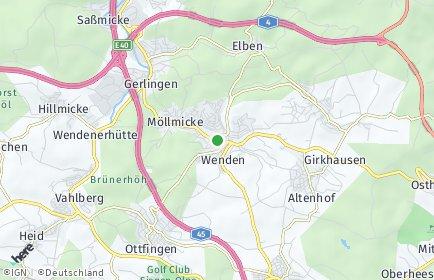 Stadtplan Wenden (Sauerland)