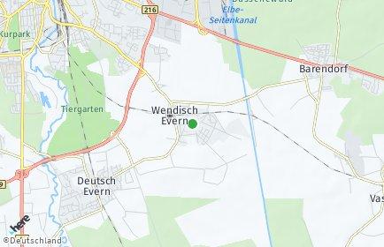 Stadtplan Wendisch Evern