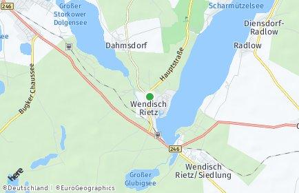 Stadtplan Wendisch Rietz