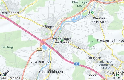 Stadtplan Wendlingen am Neckar