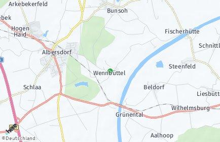 Stadtplan Wennbüttel
