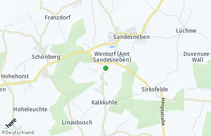 Stadtplan Wentorf (Amt Sandesneben)