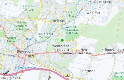 Stadtplan Wentorf bei Hamburg