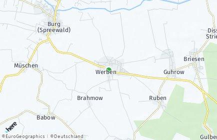 Stadtplan Werben (Spreewald)