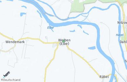 Stadtplan Werben (Elbe)