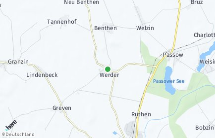 Stadtplan Werder bei Lübz