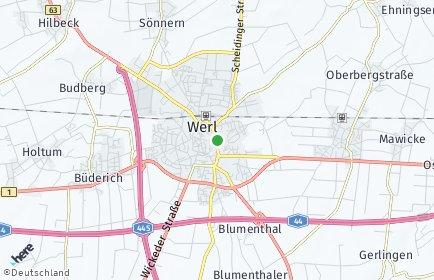 Stadtplan Werl