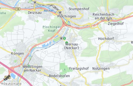 Stadtplan Wernau