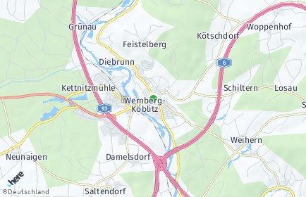 Stadtplan Wernberg-Köblitz