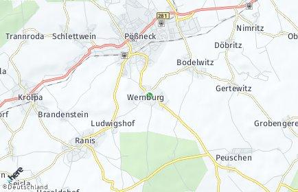 Stadtplan Wernburg