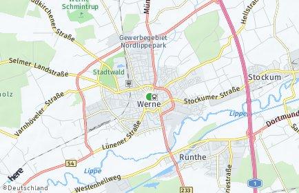 Stadtplan Werne