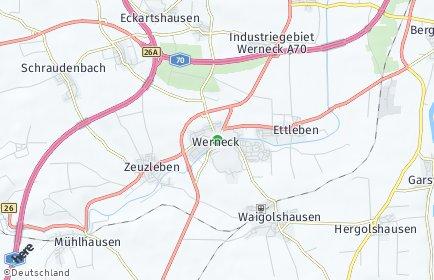 Stadtplan Werneck OT Mühlhausen bei Schweinfurt