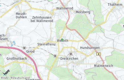 Stadtplan Weroth
