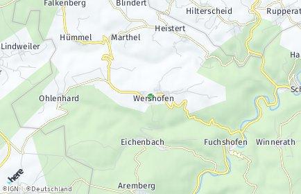 Stadtplan Wershofen