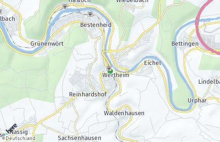 Stadtplan Wertheim